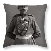 Stage German Officer Throw Pillow