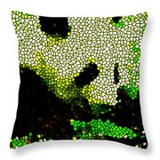 Stained Glass Panda 2 Throw Pillow