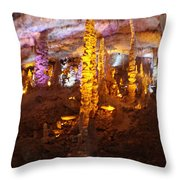 Stalactite Cave Throw Pillow