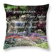 Stands Forever Throw Pillow