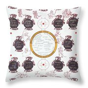 Stanley Cup Poster Throw Pillow