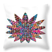 Star Ufo U.f.o. Sprinkled Crystal Stone Graphic Decorations Navinjoshi  Rights Managed Images Graphi Throw Pillow