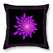 Starburst-32 Framed Black And Pink Throw Pillow