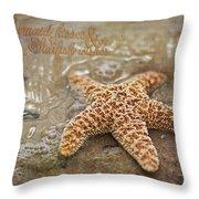 Starfish On Beach Throw Pillow