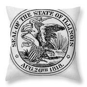 State Seal Illinois Throw Pillow