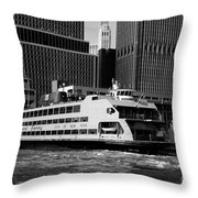 Staten Island Ferry Throw Pillow