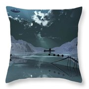 Station 211 Alien Nazi Base Located Throw Pillow