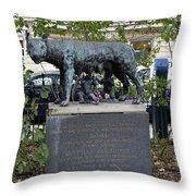 Statue In A Paris Park Throw Pillow