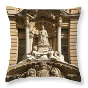 Statue Of Queen Victoria At Town Hall Of Sydney Australia Throw Pillow