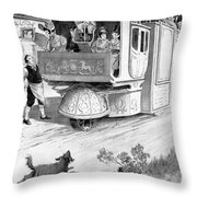 Steam Carriage, 1832 Throw Pillow
