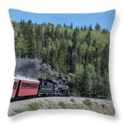 Steam Engine 488 At Osier On The Cumbres And Toltec Scenic Railroad Throw Pillow