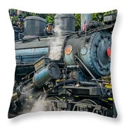 Steam Power Throw Pillow