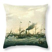Steamship Throw Pillow