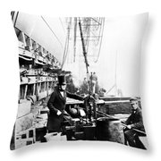 Steamship 'great Eastern Throw Pillow