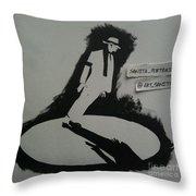 Stencil - Mj Throw Pillow