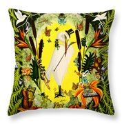Steppin Out Throw Pillow by Adele Moscaritolo