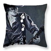 Stevie Ray Vaughan Throw Pillow