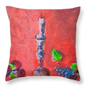 Still Life Painting Sketch Throw Pillow