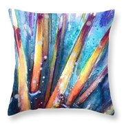 Spine Of Urchin Throw Pillow by Ashley Kujan