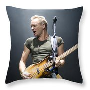 Sting Of The Police  Throw Pillow