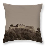 Stirling Castle Located At A Height Above The Surrounding Area Throw Pillow