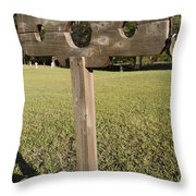 Stockade Ninety Six National Historic Site Throw Pillow