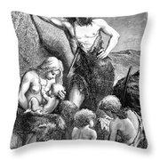 Stone Age Family Throw Pillow
