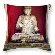 Stone Statue Of Buddha In Bali Indonesia Throw Pillow