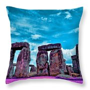Stonehenge In The English County Of Wiltshire Throw Pillow