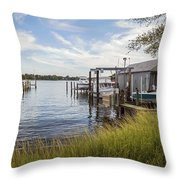 Stoney Creek Marina Throw Pillow