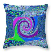 Stool Pie Chart Twirl Tornado Colorful Blue Sparkle Artistic Digital Navinjoshi Artist Created Image Throw Pillow