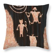 Stories In Stone Throw Pillow