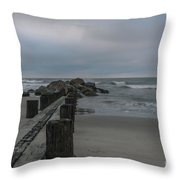 Storm Clouds Brewing Throw Pillow