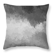 Storm Clouds Over A Cornfield Bw Throw Pillow