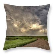 Storm Clouds Prairie Sky Saskatchewan Throw Pillow
