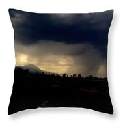 Storm Coming In Throw Pillow by Johanna Elik