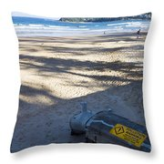 Storm Drainage Pipe On Manly Beach Throw Pillow