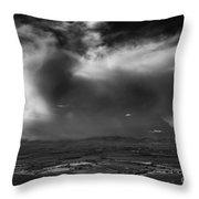 Storm Over The Kittitas Valley Throw Pillow