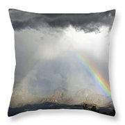 Storm Over The Organ Mountains Throw Pillow