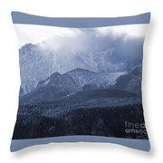 Stormy Peak Throw Pillow