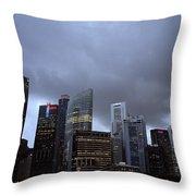 Stormy Singapore Throw Pillow