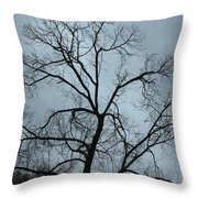 Stormy Trees Throw Pillow