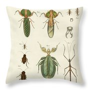 Strange Insects Throw Pillow