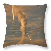 Strange Skies Throw Pillow