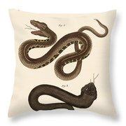 Strange Snakes Throw Pillow