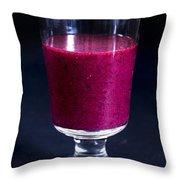 Strawberry Blueberry Smoothie Throw Pillow
