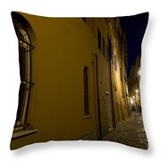 Street Alley By Night Throw Pillow