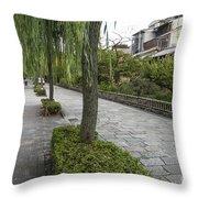 Street In Kyoto Japan Throw Pillow