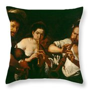 Street Musicians Throw Pillow