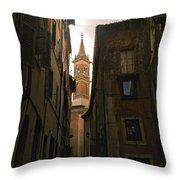 Street Of Rome Throw Pillow